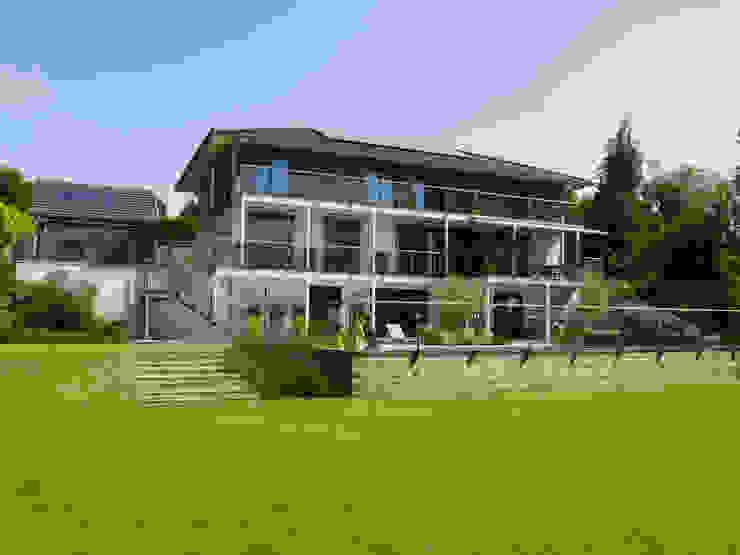 Baufritz House Bond Baufritz (UK) Ltd. Garden Fencing & walls Granite Beige