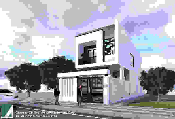 nhà phố 2 tầng hiện đại 6m bởi Kiến trúc Việt Xanh