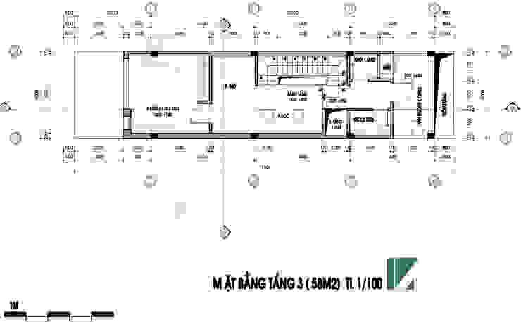 nhà phố 3 tầng hiện đại 4m mặt tiền bởi Kiến trúc Việt Xanh