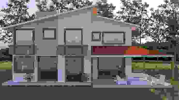 diseño en 3d de fachada de Arqmania