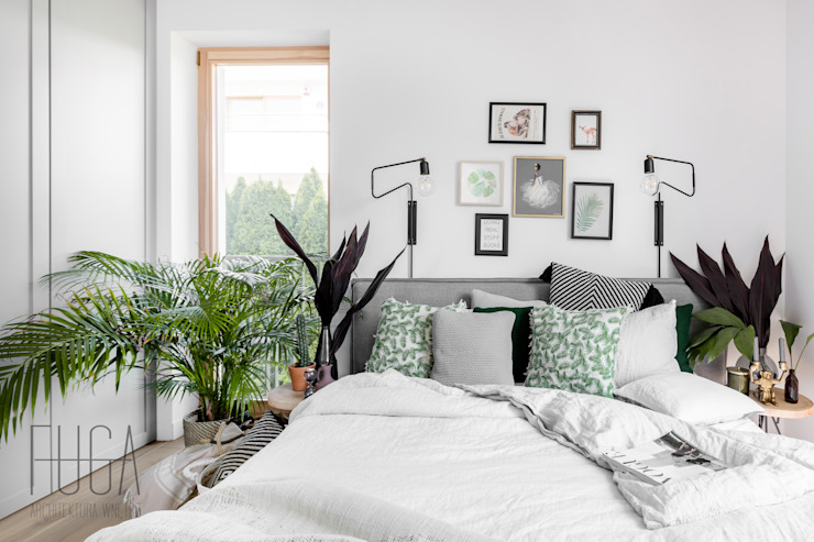 APARTAMENT 80 M² Minimalistyczna sypialnia od Fuga Architektura Wnętrz Minimalistyczny