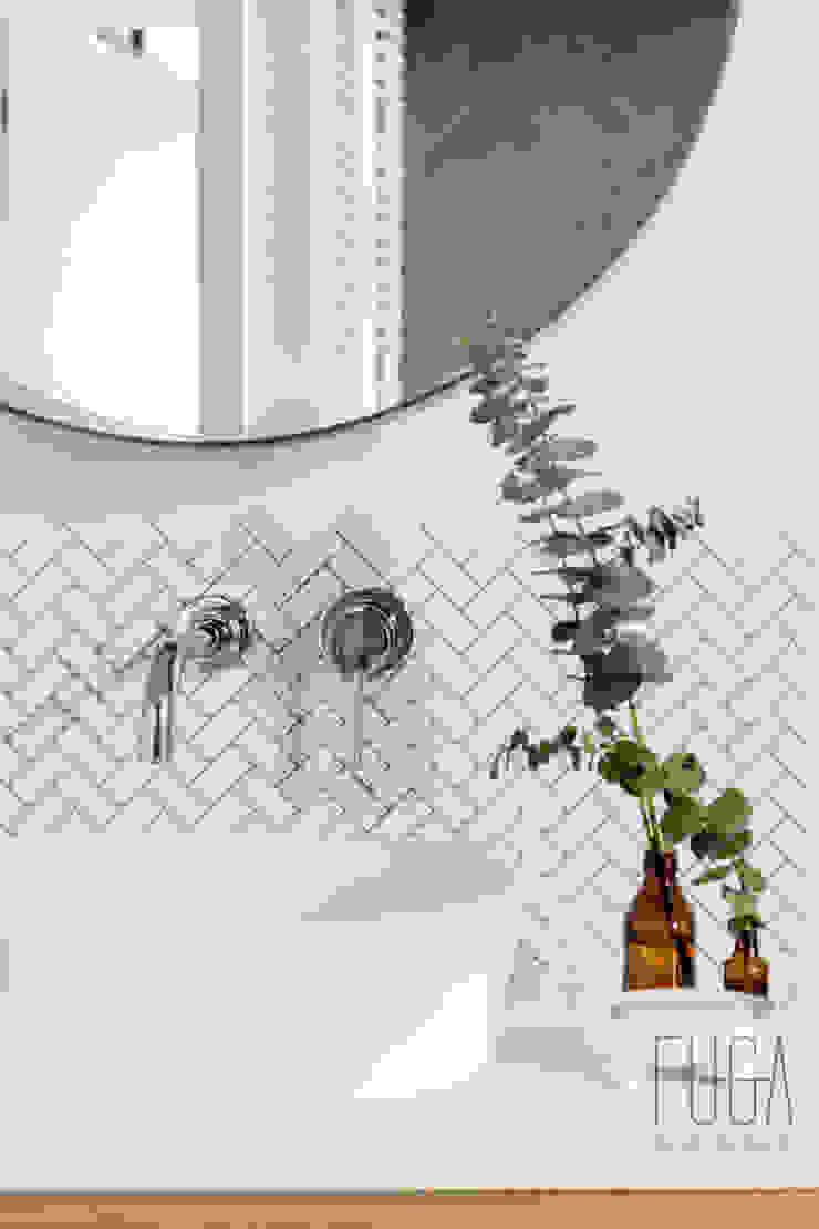 Fuga Architektura Wnętrz Bagno minimalista