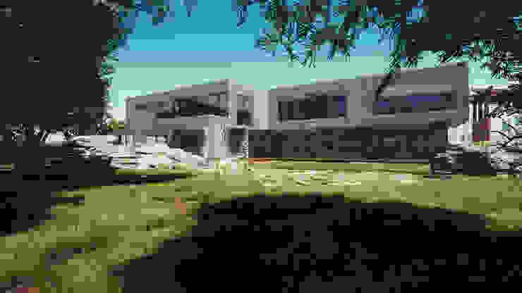 Fachada y Exterior: Casas de estilo  por CR.3D Modeling & Rendering, Moderno Concreto reforzado