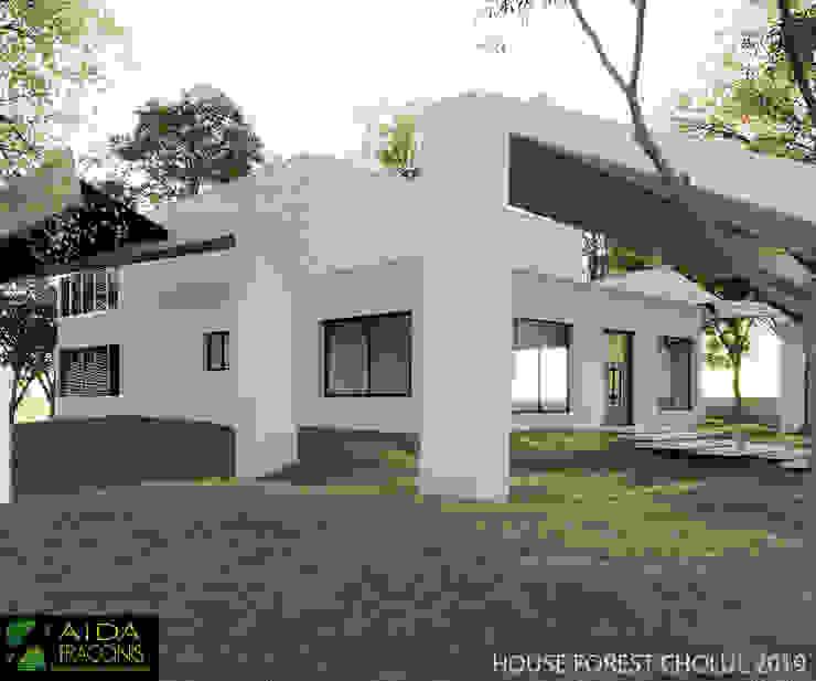 FACHADA PRINICIPAL FOREST HOUSE de AIDA TRACONIS ARQUITECTOS EN MERIDA YUCATAN MEXICO Moderno