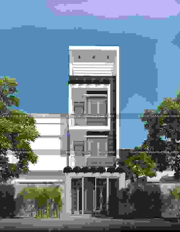 Các mẫu thiết kế mặt tiền nhà ống đẹp hiện đại bởi Thiết kế nhà đẹp ở Hồ Chí Minh