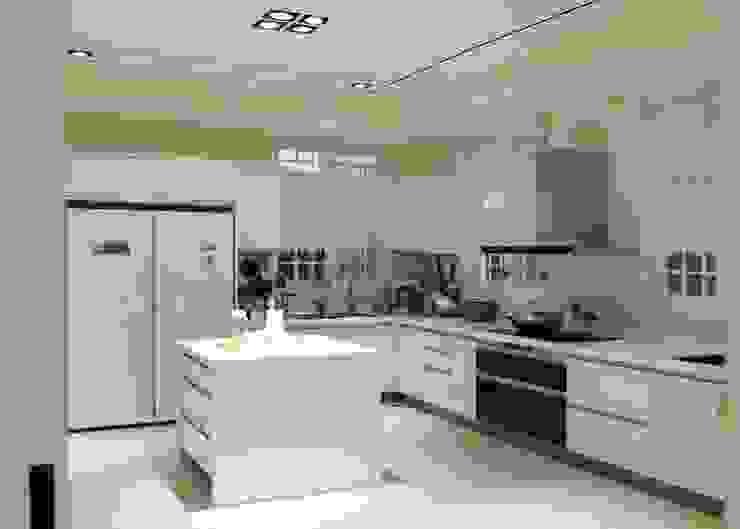 廚房 by 沐寬室內裝修設計有限公司 Classic Wood-Plastic Composite