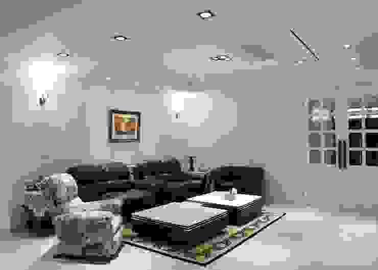 客廳 根據 沐寬室內裝修設計有限公司 古典風 合板