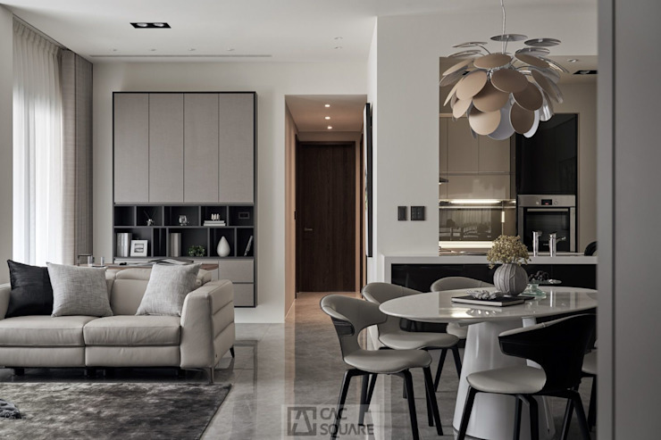 新竹G宅 现代客厅設計點子、靈感 & 圖片 根據 卡納文創/品納設計 現代風