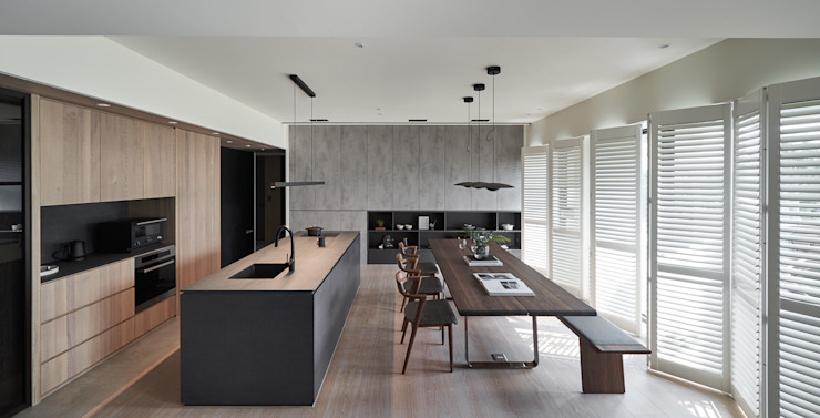 Salas de estar modernas por 卡納文創/品納設計 Moderno