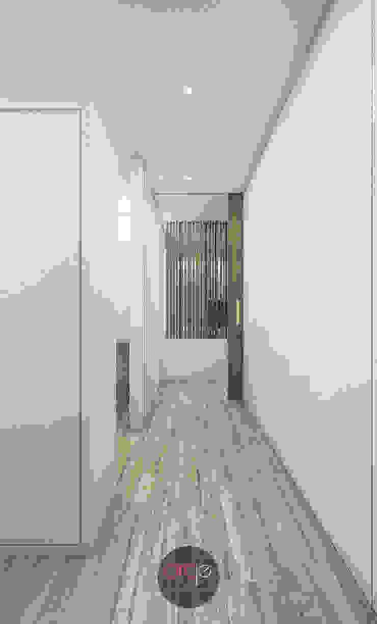 Modern Corridor, Hallway and Staircase by arcq.o | rui costa & simão ferreira arquitectos, Lda. Modern