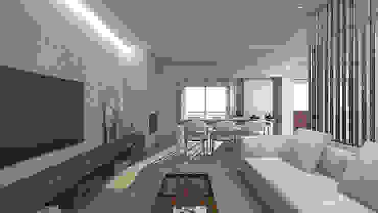 Modern Living Room by arcq.o | rui costa & simão ferreira arquitectos, Lda. Modern