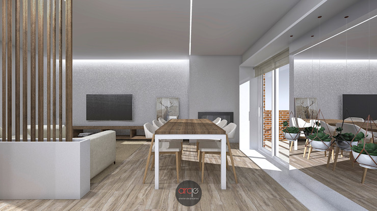 Modern Dining Room by arcq.o | rui costa & simão ferreira arquitectos, Lda. Modern