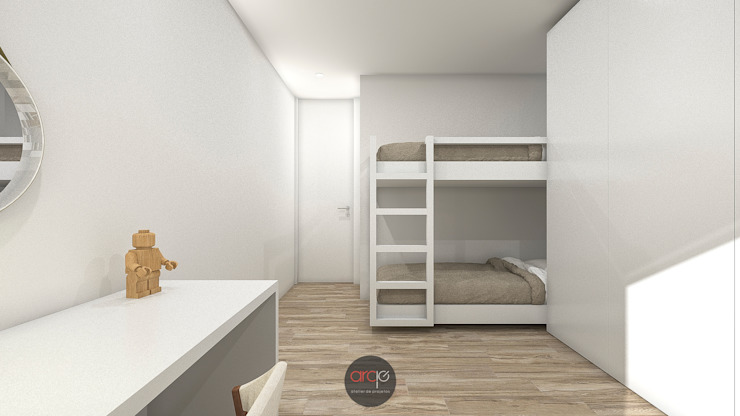 Habitaciones para niños de estilo moderno de arcq.o | rui costa & simão ferreira arquitectos, Lda. Moderno