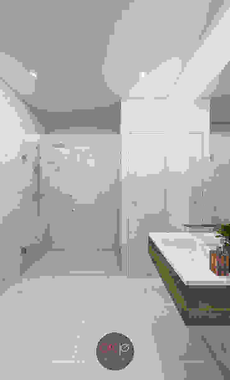 Modern Bathroom by arcq.o | rui costa & simão ferreira arquitectos, Lda. Modern