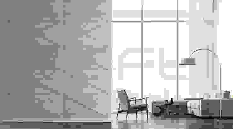Loft Design System Deutschland - Wandpaneele aus Bayern Living room Concrete Grey