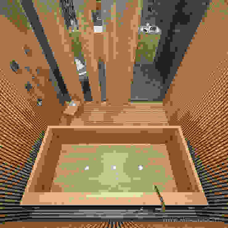 MIRAI STUDIO 浴室 木頭 Wood effect