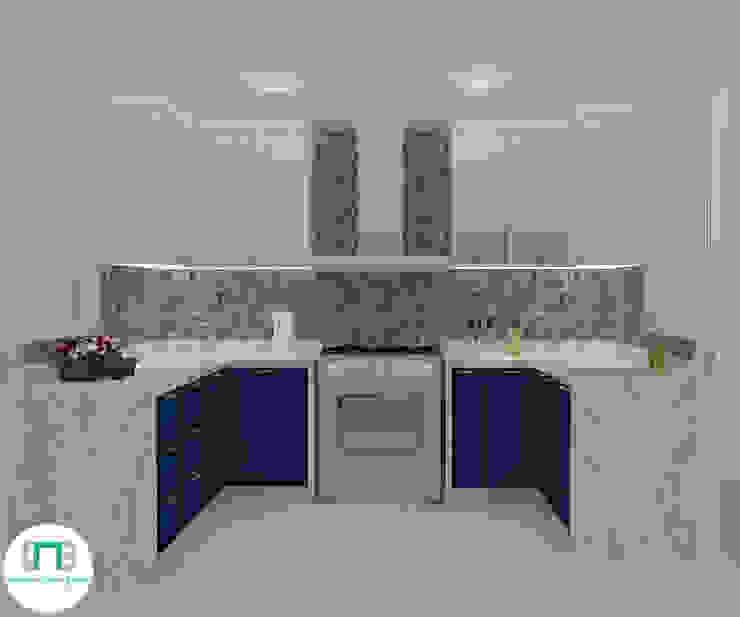 Diseño de Cocina - Espacios pequeños de NCB Arquitectura de interiores Ecléctico