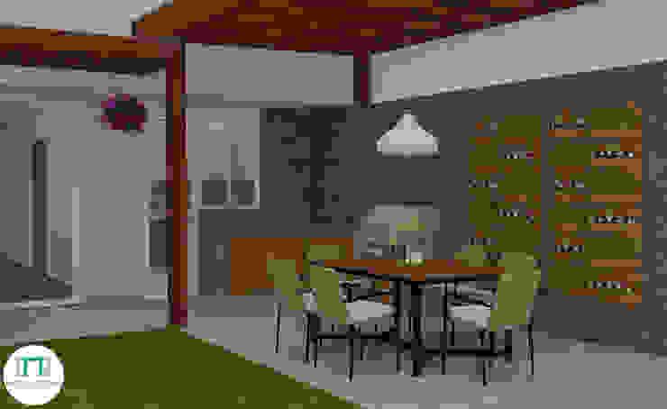 Diseño de Terraza Balcones y terrazas modernos de NCB Arquitectura de interiores Moderno