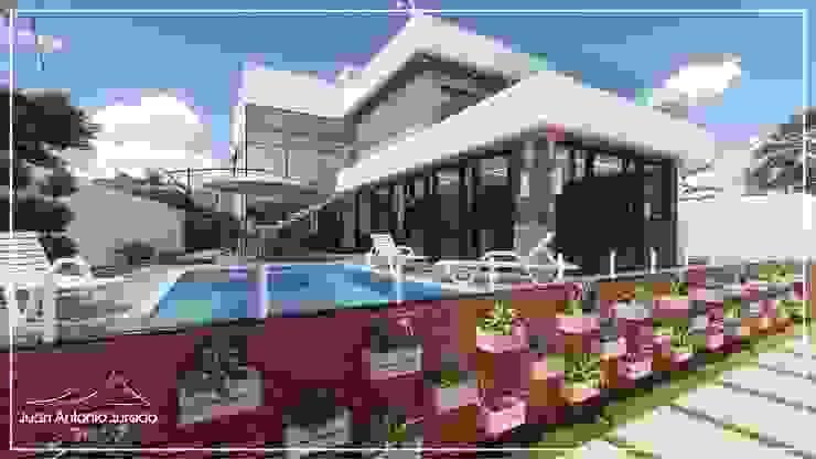 Área de Lazer Juan Jurado Arquitetura & Engenharia Piscinas de jardim Concreto Branco