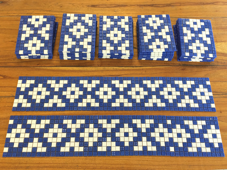 Guarda y Fondo de Pileta: Piletas de jardín de estilo  por Compañía de Mosaicos,Clásico