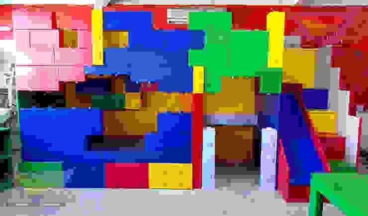 Fabulosa Litera de Lego de Kids Wolrd- Recamaras Literas y Muebles para niños Moderno Derivados de madera Transparente
