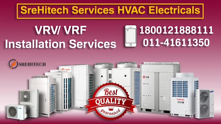 VRV/ VRF Installation Services in Delhi/NCR, India VRF / VRV AC Dealers in Delhi/NCR,India Industrial style offices & stores Blue