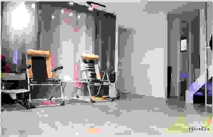 貨櫃屋渡假別墅 现代客厅設計點子、靈感 & 圖片 根據 光合作用設計有限公司 現代風