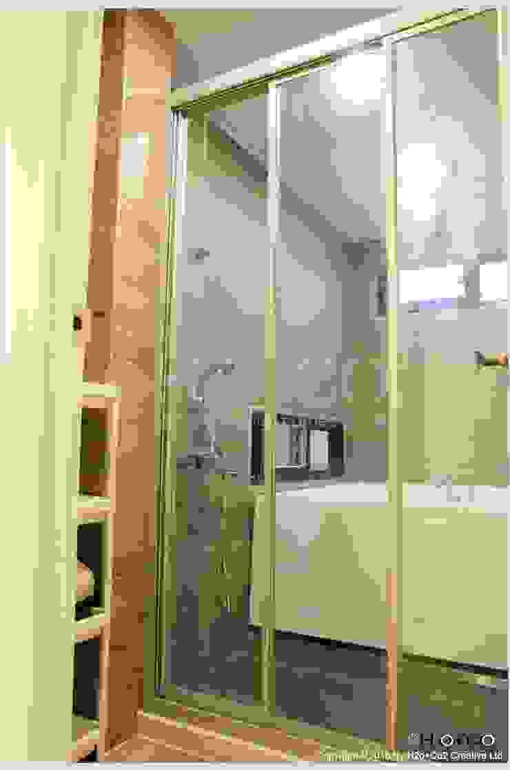 貨櫃屋渡假別墅 現代浴室設計點子、靈感&圖片 根據 光合作用設計有限公司 現代風