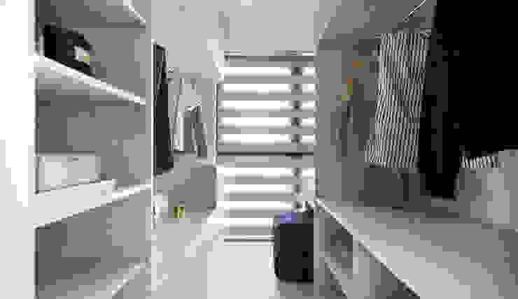 邑田空間設計 Vestidores de estilo minimalista Blanco