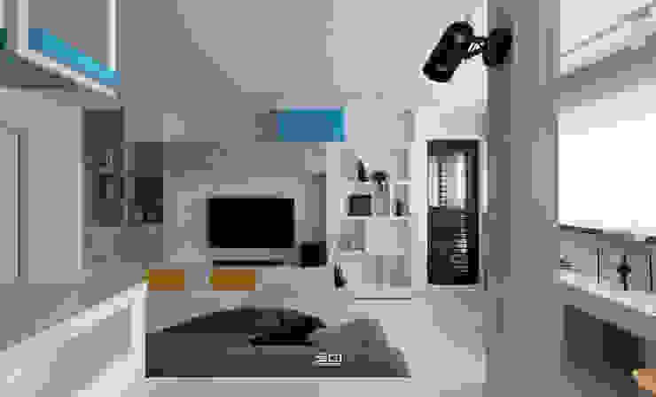 Salones de estilo minimalista de 邑田空間設計 Minimalista
