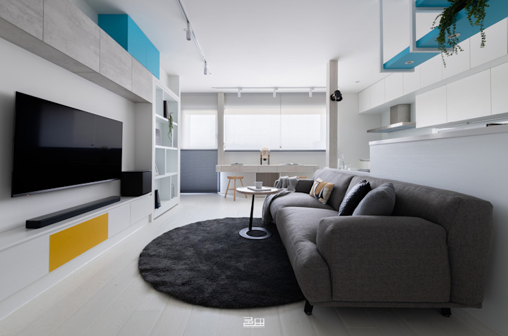 客廳 Minimalist living room by 邑田空間設計 Minimalist