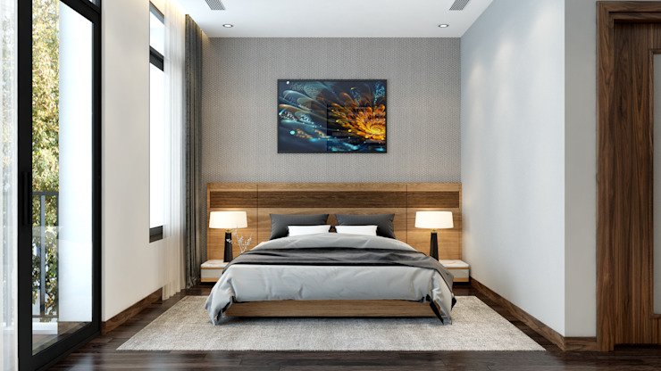 Dormitorios modernos: Ideas, imágenes y decoración de Nội Thất My House Moderno Metal