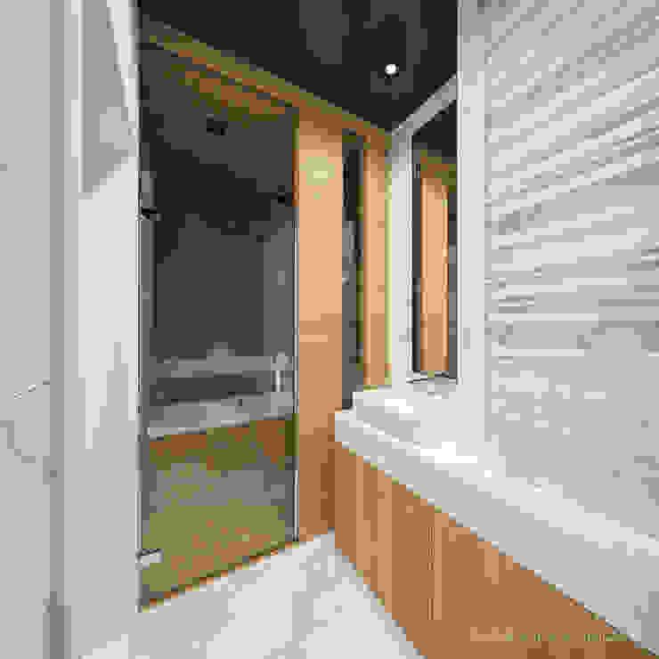 MIRAI STUDIO Minimalist style bathrooms Marble White