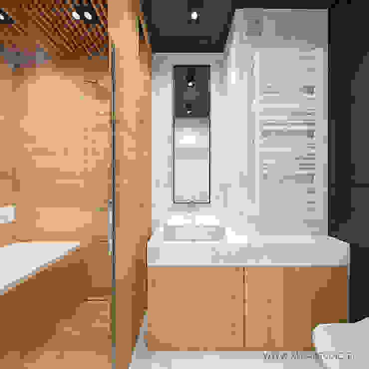 MIRAI STUDIO Minimalist style bathrooms Wood Wood effect