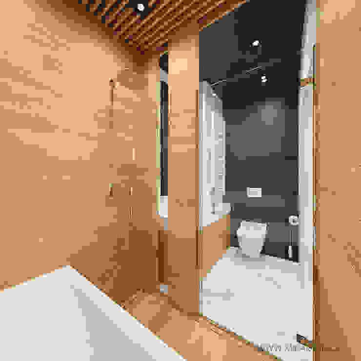 MIRAI STUDIO Modern style bathrooms MDF Black