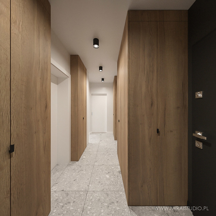 Corredores, halls e escadas modernos por MIRAI STUDIO Moderno
