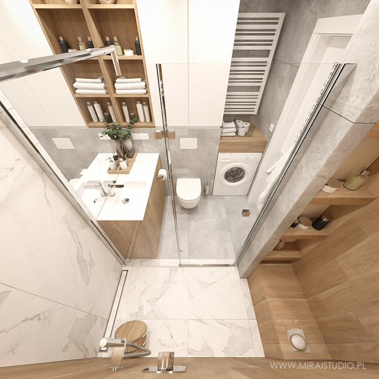 MIRAI STUDIO Bagno moderno Marmo Bianco