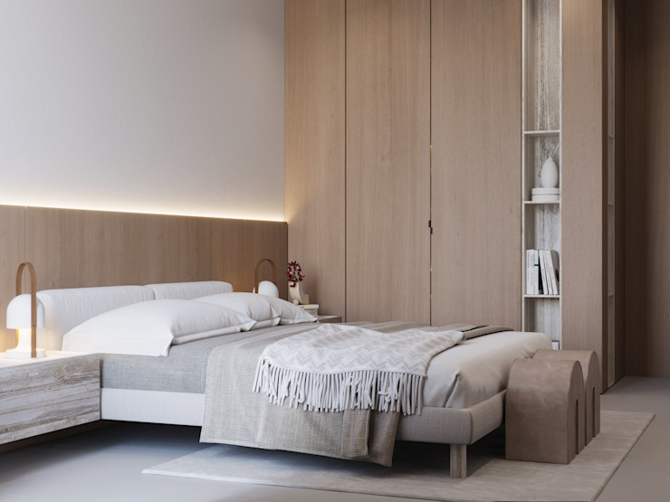 Suiten7 Scandinavian style bedroom White