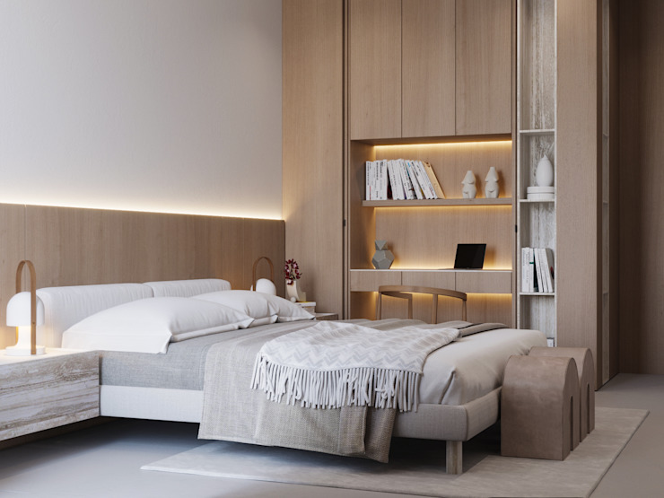 Suiten7 Scandinavian style bedroom MDF Beige