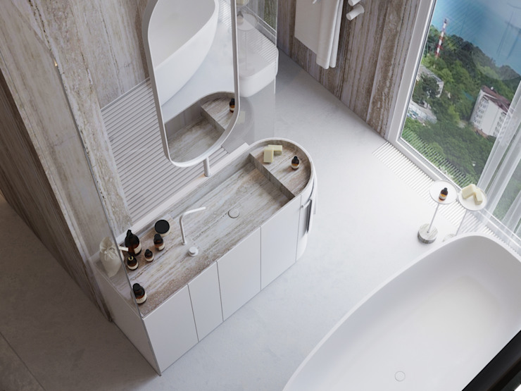 Suiten7 Minimalist bathroom Ceramic Beige