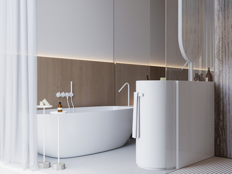 Suiten7 Minimalist bathroom White