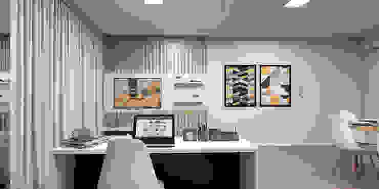 Sala de TV: Salas de estar  por Projeto 3D Online,Moderno Madeira Efeito de madeira