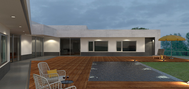 Piscinas de estilo  por Limit Studio,