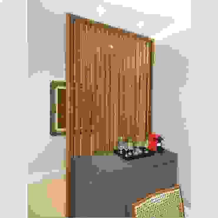 Divisória em marcenaria Izabella Biancardine Interiores Salas de jantar modernas