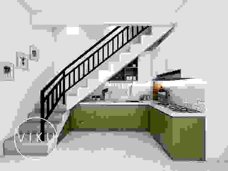 kitchen set bu ida Oleh viku Skandinavia Kayu Wood effect