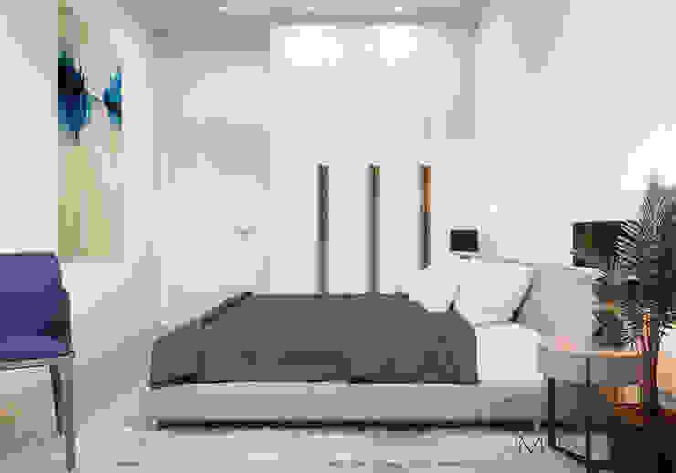 Ліжко в спальні by Марина Янченкова Мінімалістичний