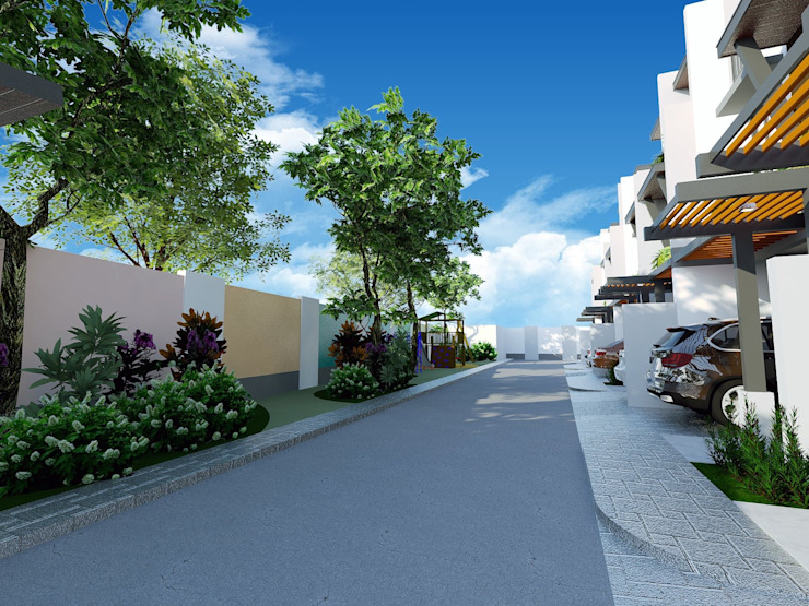 View of Driveway by Structura Architects Modern