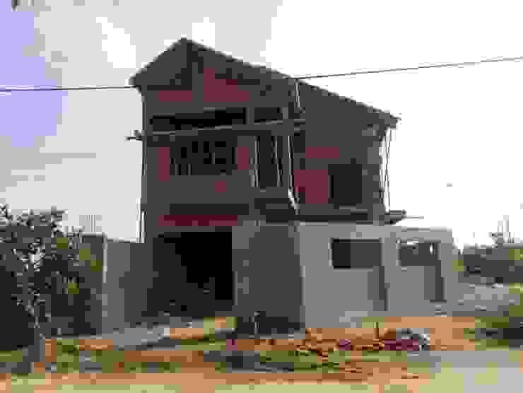 Công đoạn xây thô nhà bởi Công ty TNHH Thiết Kế Xây Dựng Song Gia Phát Hiện đại