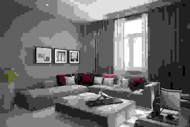 Nội thất phòng khách bởi Công ty TNHH Thiết Kế Xây Dựng Song Gia Phát Hiện đại
