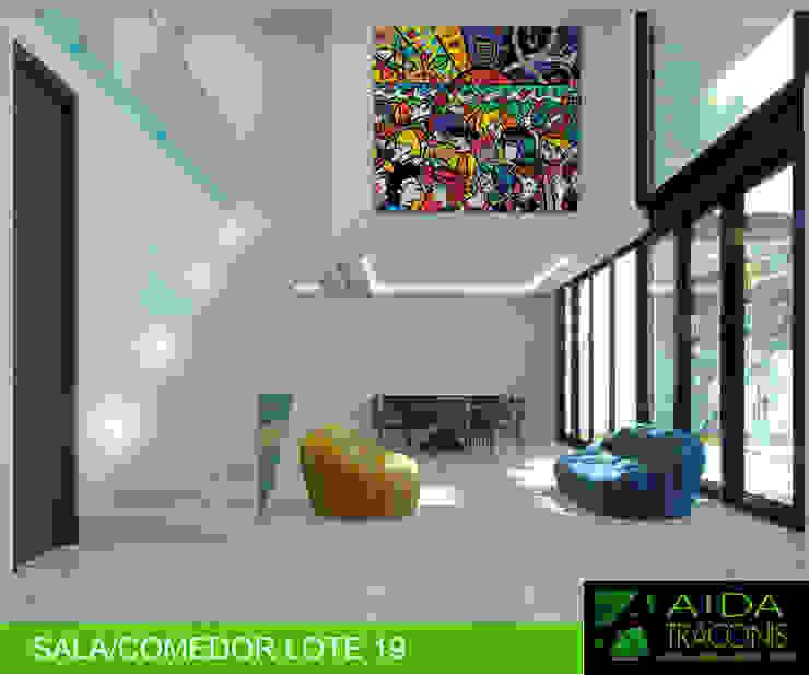 COMEDOR LOTE 19 de AIDA TRACONIS ARQUITECTOS EN MERIDA YUCATAN MEXICO Clásico